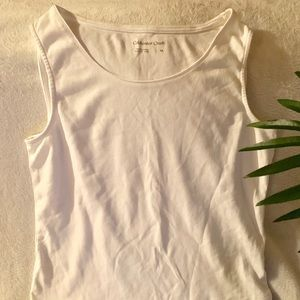 Coldwater Creek Sleeveless White Top Scoop Neck M.
